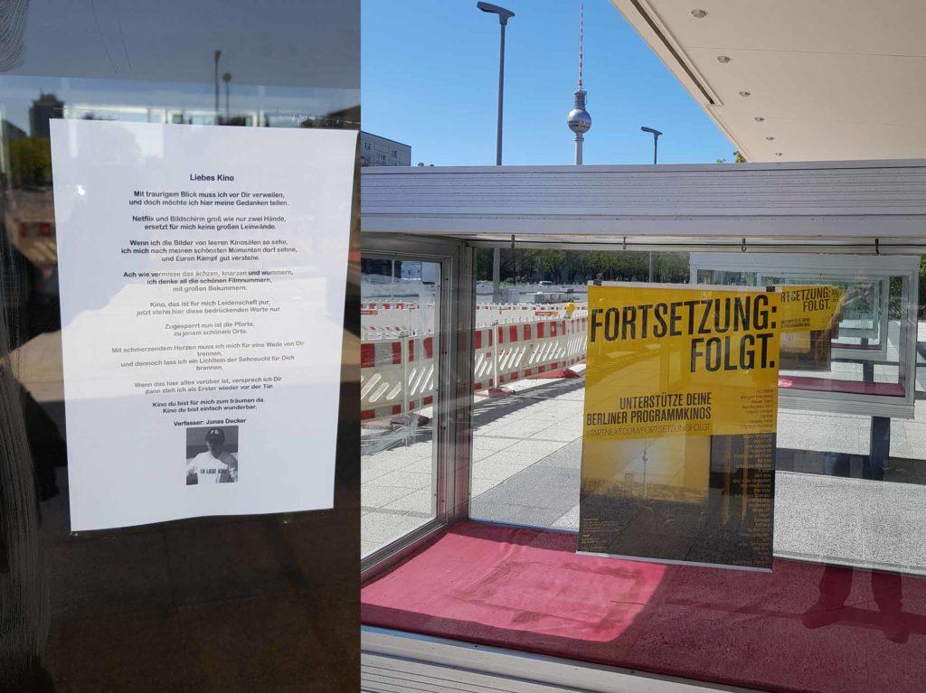 Wegen Corona geschlossen: Kino International / Foto: Ingo Paszkowsky