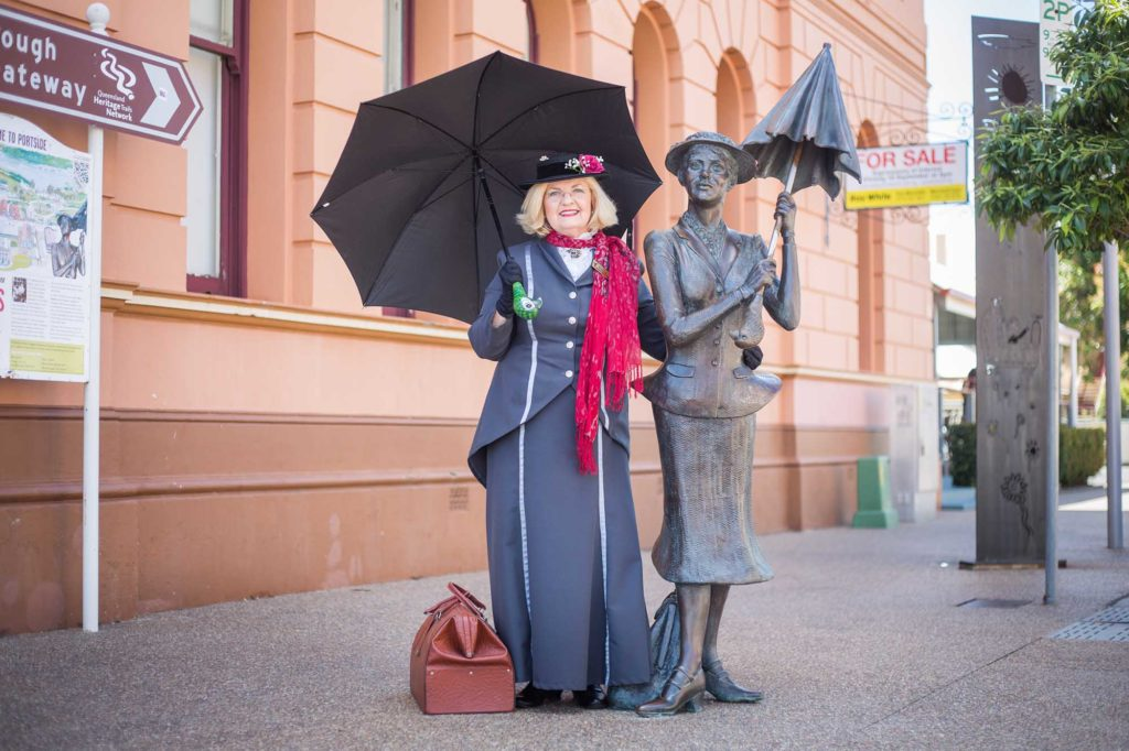 Die Gemeinde Maryborough feiert Travers bereits seit mehreren Jahren mit dem einwöchigen Mary Poppins Festival. / Foto: Tourism and Events Queensland / andrewtallon.com