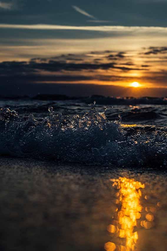 Sonnenuntergang am Strand von Graal-Müritz / Quelle: André Pristaff