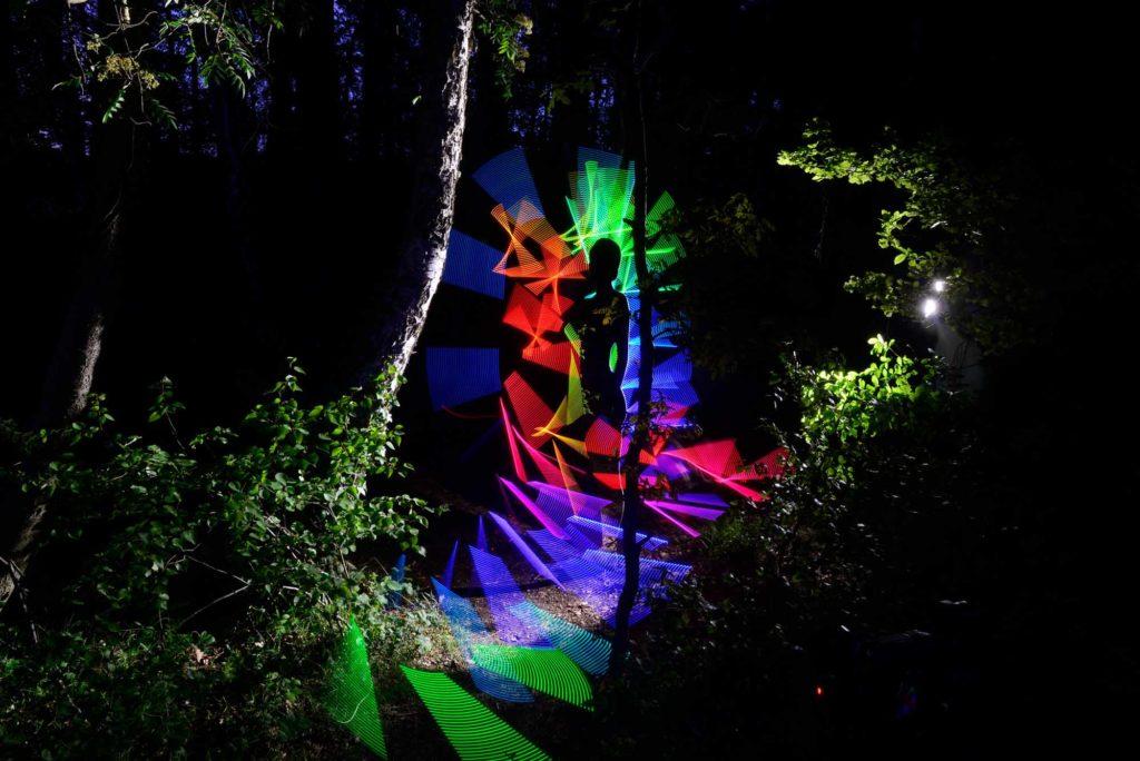 """Das Kunstwerk """"Beyond The Forest"""" ist Teil des Olympus Fotokunstpfades Zingst. / Quelle: Thomas Wildrich"""