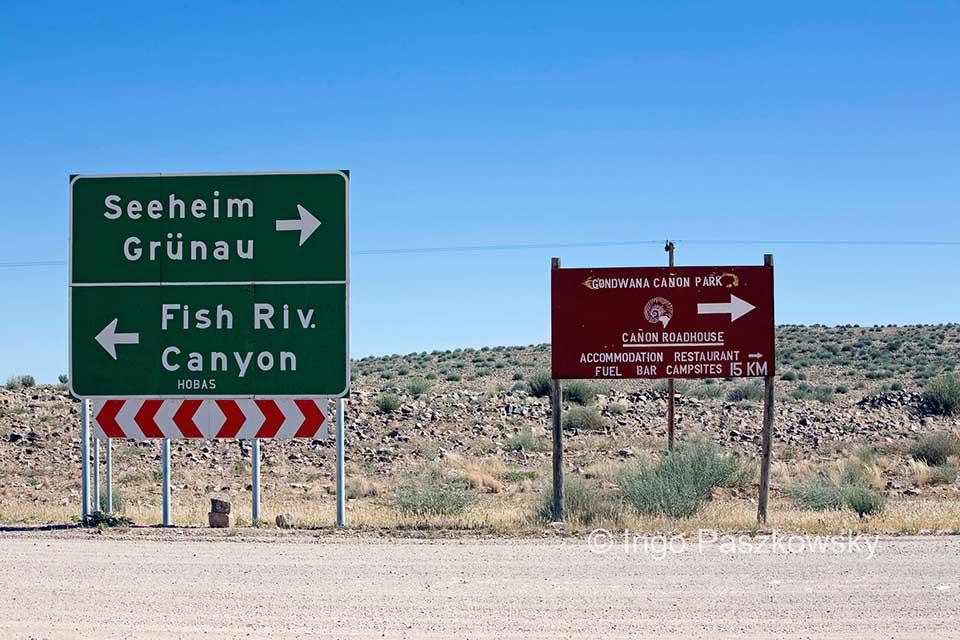 Grünau und Seeheim gibt es auch in Namibia. Foto: Ingo Paszkowsky