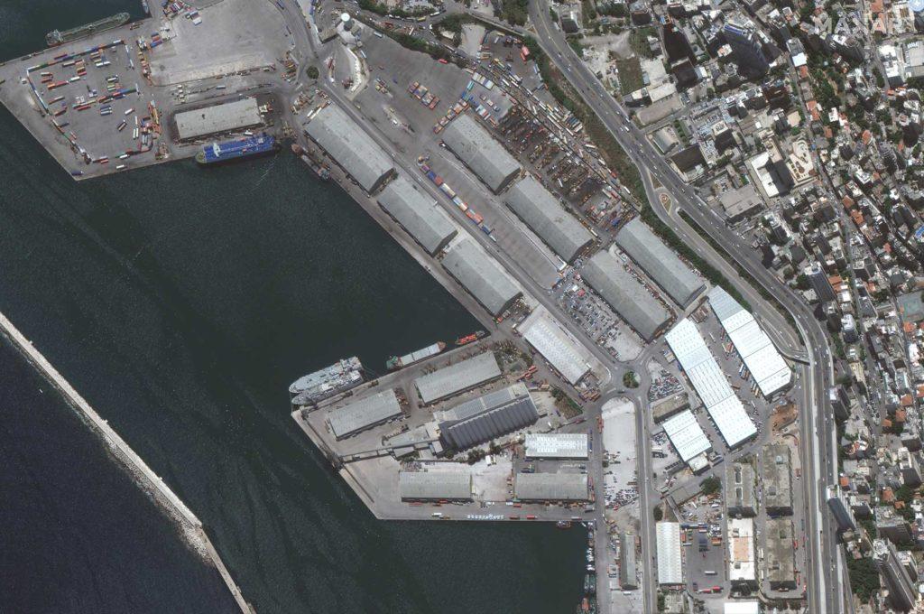 Der Hafen von Beirut aus der Satelliten-Perspektive am 9. Juni 2020 / Foto: Satellite image ©2020 Maxar Technologies