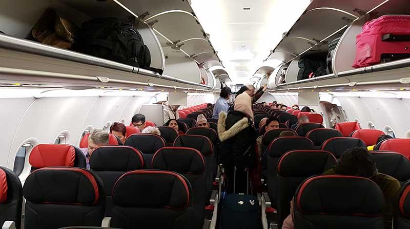 Economy Class im Turkish Airlines Airbus A321-200. Foto: WeltReisender.net / Stefanie Gendera