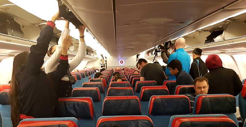 Boarding für Flug TK726 nach Kathmandu, Nepal. Foto: WeltReisender.net / Stefanie Gendera