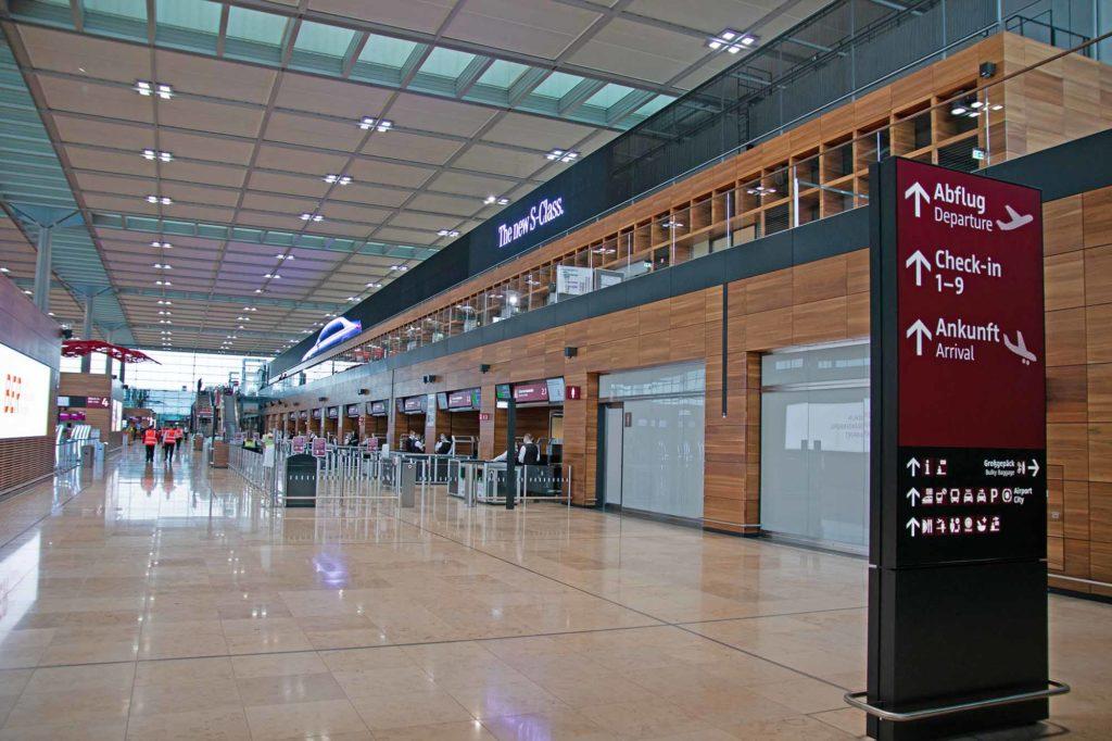 Das Terminal 1 ist das größte Terminal am BER / Foto: Ingo Paszkowsky