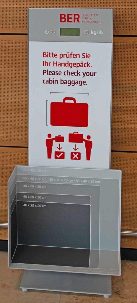 Mögliche Handgepäckgrößen / Foto: Ingo Paszkowsky