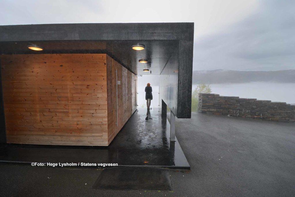 Die Toilette Stegastein ist ebenfalls eine architektonische Meisterleistung / ©Foto: Hege Lysholm / Statens vegvesen