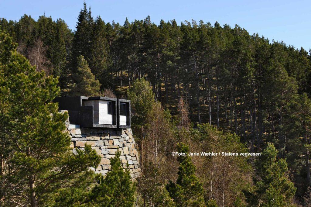 Stegastein: Moderne Toilette mit schönen Aussichten / ©Foto: Jarle Wæhler / Statens vegvesen