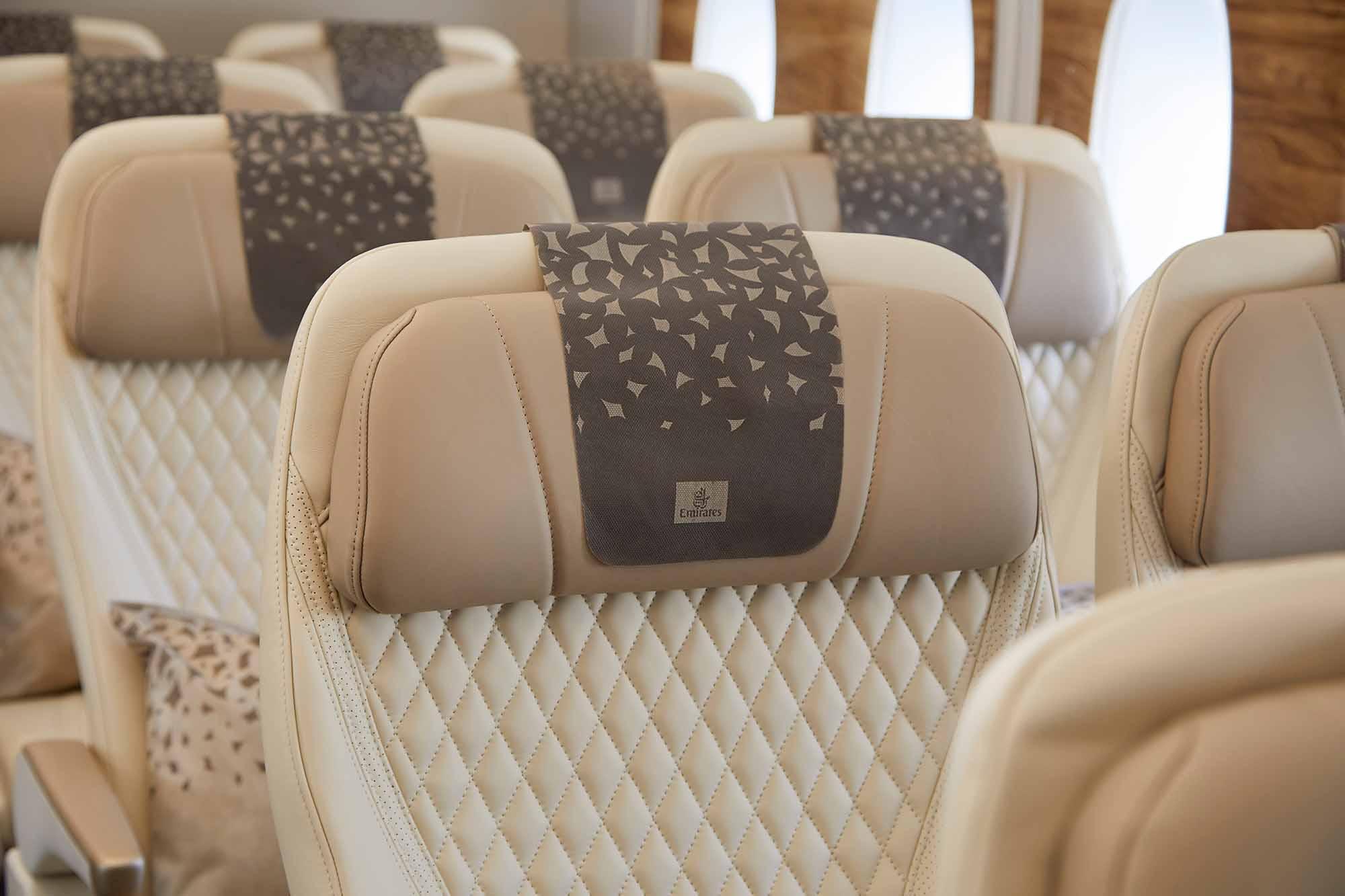 Premium-Economy-Kabine im A380. Emirates erwägt die Nachrüstung auf seiner bestehenden A380-Flotte. / Foto: Emirates