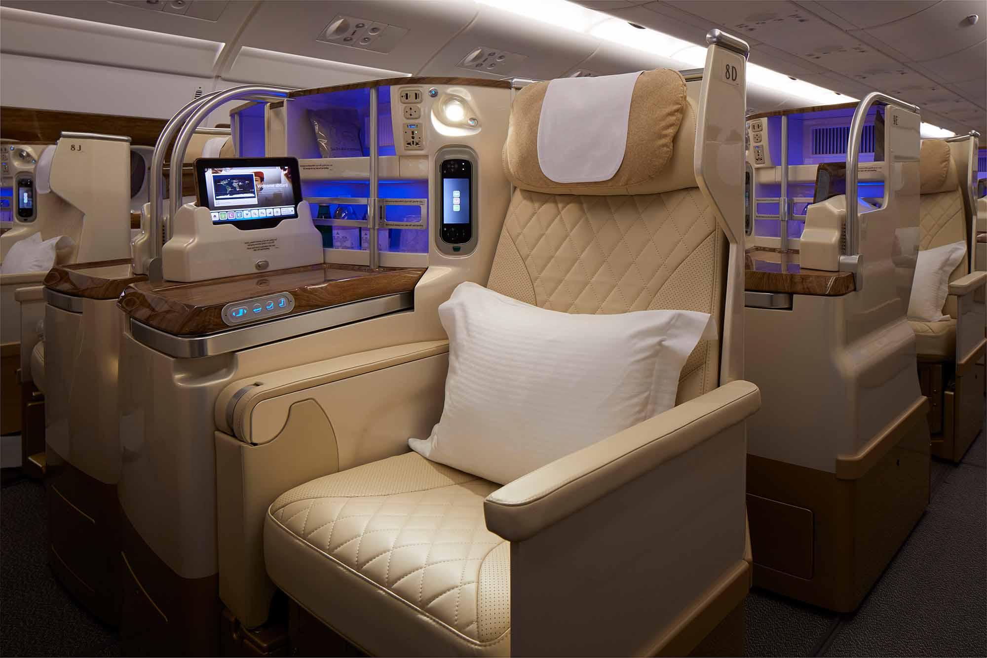 Die neue Emirates A380-Business-Class / Foto: Emirates