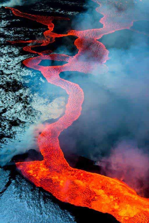 Vulkan Bárðarbunga, Vatnajökull-Nationalpark, Island, Dezember 2014; Canon EOS-1D X, EF 70-200/2,8L IS II USM, f/2,8, 1/2000s, ISO 1000 / Copyright: Art Wolfe / Frederking & Thaler
