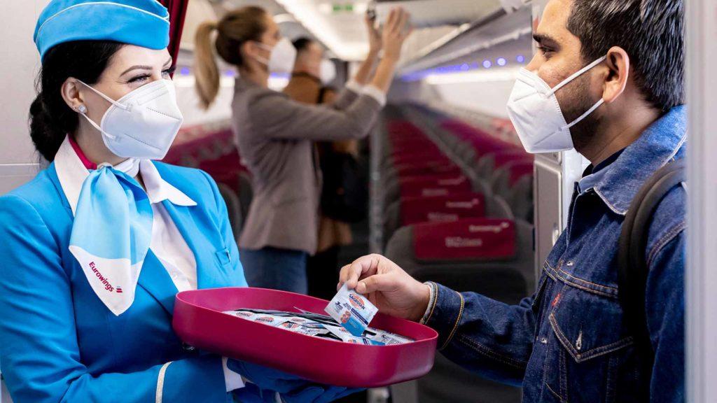 Eurowings setzt auf die Desinfektionsprodukte des Hygiene-Experten Sagrotan / Foto: Reckitt Deutschland