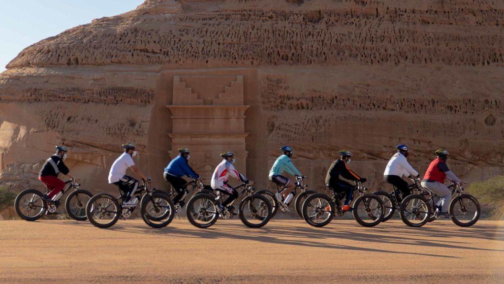 Eine Kooperation sieht unter anderem die Einrichtung eines Radsportcamps in AlUla vor, um auch die lokale Bevölkerung vermehrt vom Radsport und somit einer CO2-neutralen Fortbewegung zu begeistern. / Copyright Royal Commission for AlUla (RCU)