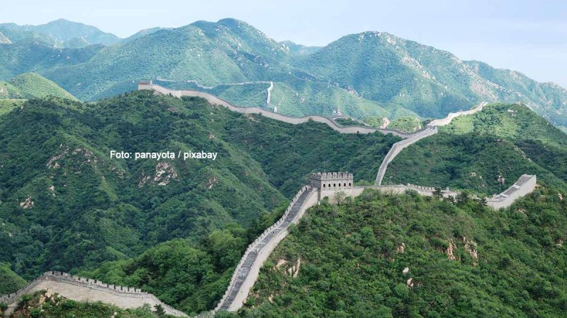 Die Chinesische Mauer. Foto: panayota / pixabay