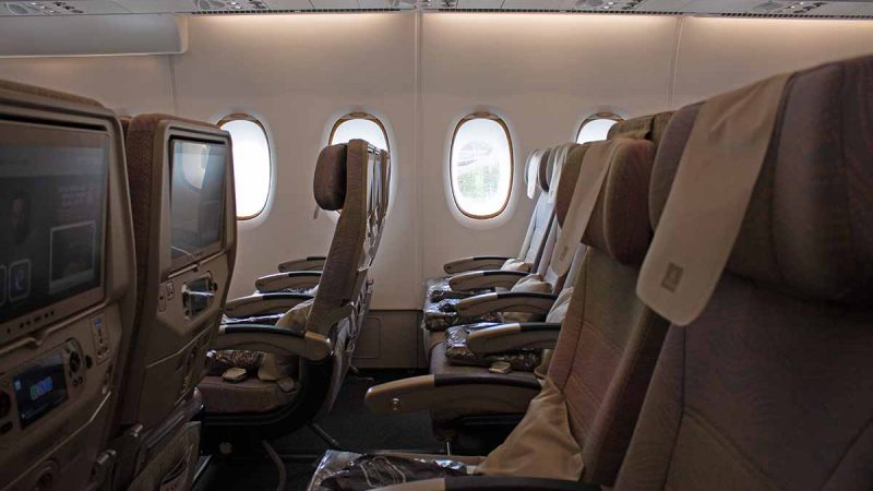 Economy Class im Emirates A380