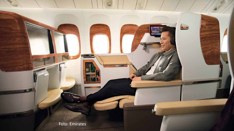 Emirates Boeing 777-300ER mit Game Changer Business Class