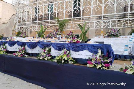 Der gedeckte Tisch des Heiligen Josef. Foto: Ingo Paszkowsky