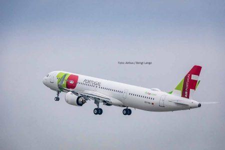 Erste A321LR von TAP Air Portugal beim Take-off. Foto: Airbus / Bengt Lange